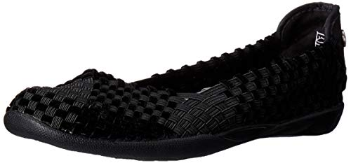 Bernie Mev Women's Braided Catwalk Black/black Velvet Flats - 6.5 B(M) US