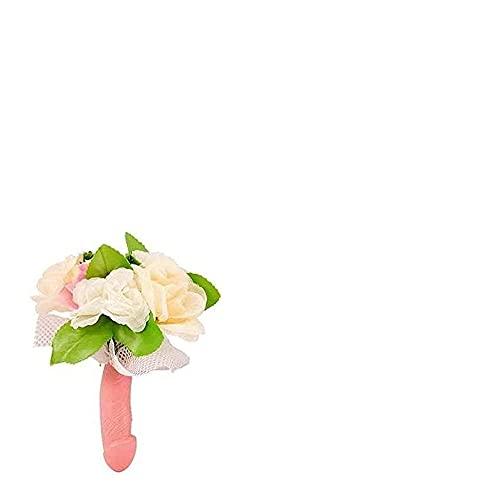 Bouquet Sposa con Manico Pene e Fiori per DAMIGELLE Addio al Nubilato - Gadget Idea scherzi Regalo di Matrimonio