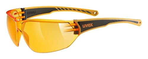 uvex Unisex– Erwachsene, sportstyle 204 Sportbrille, orange, one size