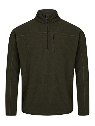 Berghaus Stainton Half Zip Polaire Homme, Ivy Green/Peat, FR (Taille Fabricant : 2XL)
