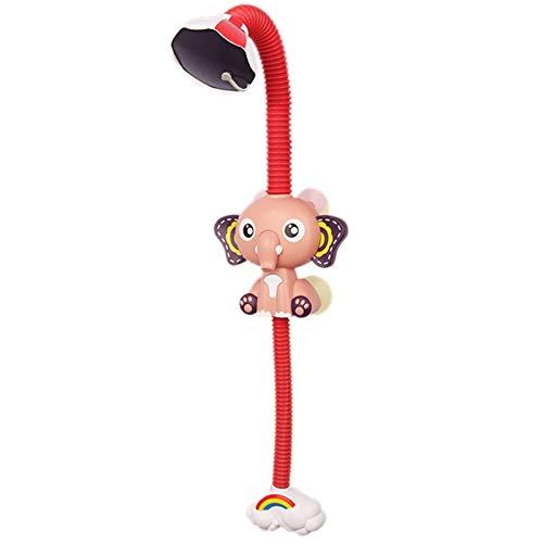 PQZATX Baby Elefant Elektrische Dusche Kinder Badezimmer Cartoon Baby Elefant Automatische Wasserspray Dusche Wasser Spielzeug Rot