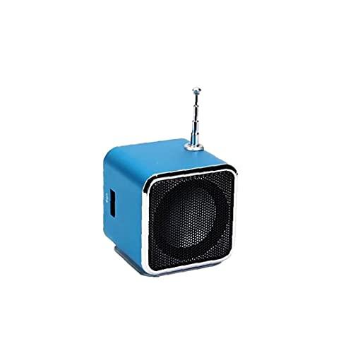 Sraeriot Mini Altavoz Portátil Td V26 Digital Lcd Sonido Micro Sd Tf Usb Fm Radio Música Estéreo Altavoz De Altavoz Compatible Para Mp3 Laptop Teléfono Móvil Mini Altavoz