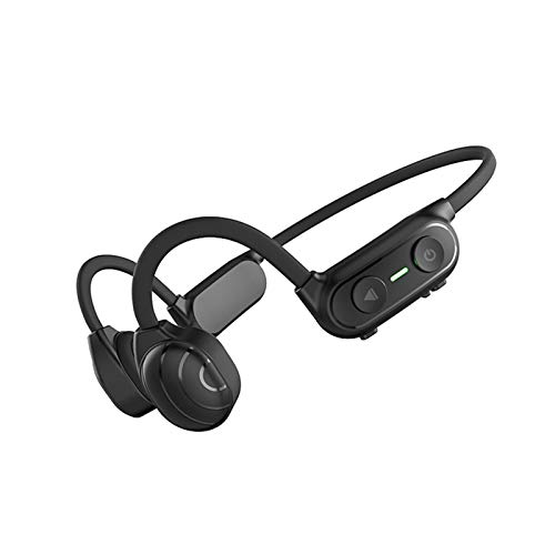 Auriculares de conducción ósea con micrófono Bluetooth 5.0 Deep Bass y Microphone HiFi Sound Steeo Sound IP65 impermeable 35g Reproductor de MP3 Deporte Auriculares Bluetooth para nadar Correr Niños A