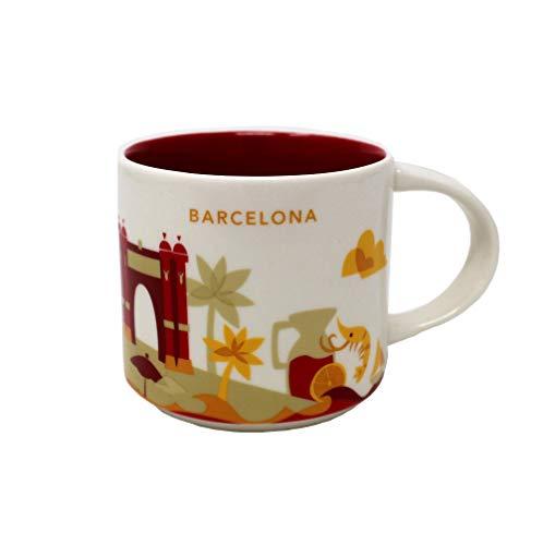 Starbucks Barcelona Yah-Becher - Sie Befinden Sich Hier - Kaffeetasse - Espana - Garnelen - Shrimp - Las Ramblas - Sangria 14 Unzen Weiß