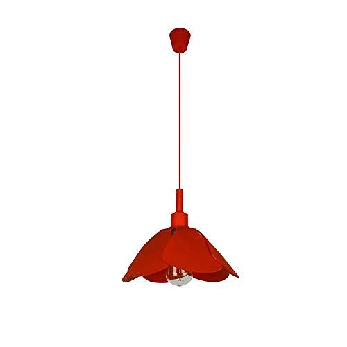 ZXL hanglampen, decoratieve siliconen kroonluchter voor moderne mozaïek siliconen slaapkamer kleur type plafondlampen (lamp niet inbegrepen) [energieklasse A +++], rood