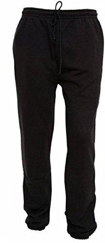 Hommes Molleton Jogging Survêtement bas Pantalons Taille M - XXL aussi PLUS tailles 3XL à 6XL (2XL, Noir)