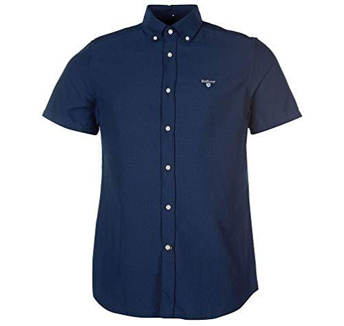 Barbour Casual Hemd Blau Baumwolle Herren, Blau 56