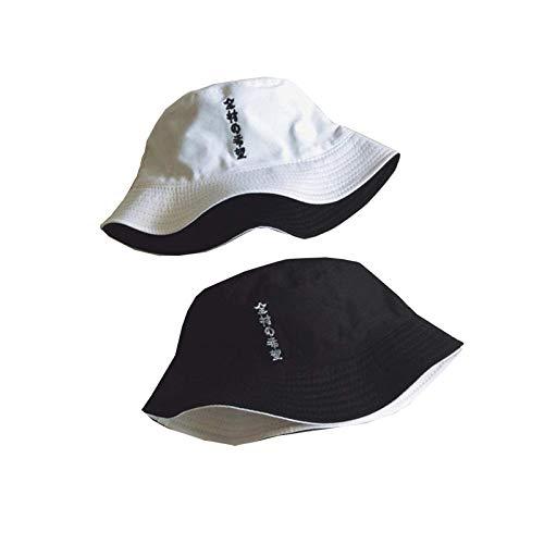 suus Bordado de la Ropa Dedo de Doble Cara del Cubo Algo Que los Hombres Las Mujeres Panamá Sombrero del Verano del Sombrero del Cubo del Sombrero de Hip Hop Pescador...