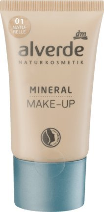 alverde NATURKOSMETIK vegan Mineral Make-up naturelle 01, 30 ml