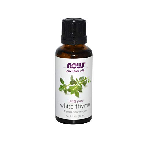 NOW Essential Oils, White Thyme Oil, Empowering Aromatherapy Scent, Steam Distilled, 100% Pure,...