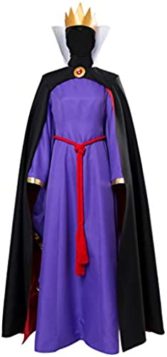 MingoTor Prinzessin K gin Evil Queen Princess Outfit Halloween Cosplay Kostüm Damen XS
