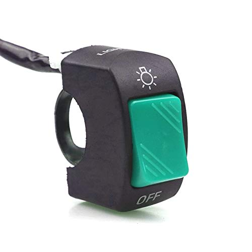 WANGXINQUAN 22mm Motocicleta On-Off Botón Push Switch Interruptores del Manillar 12V ATV electrónico Moto Vespa de la Bici (Color : Verde, Size : Gratis)
