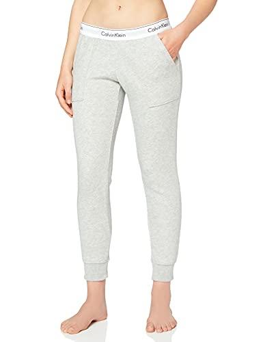 Calvin Klein Damen Bottom Pant Jogger Sporthose, Grau (Grey Heather 020), W(Herstellergröße: S)