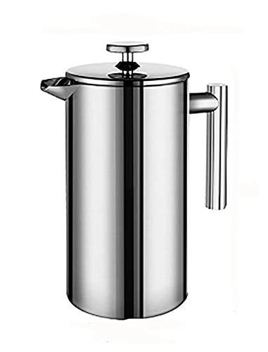 YJSS JXXXJS Cafetera de café de Acero Inoxidable Pote de Filtro de café Doble Pared de Doble Capacidad de Gran Capacidad contenedor de café (Color : 350ml)