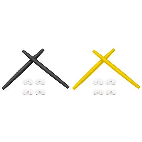 Montoz Juego de 2 almohadillas de repuesto para gafas de sol Oakley Transistor, color negro y amarillo