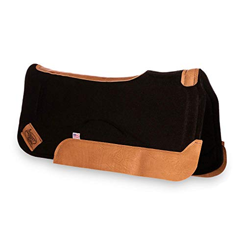 Impact Gel 32' Contour Saddle Pad 1' Thick Black with XT Lite Gel