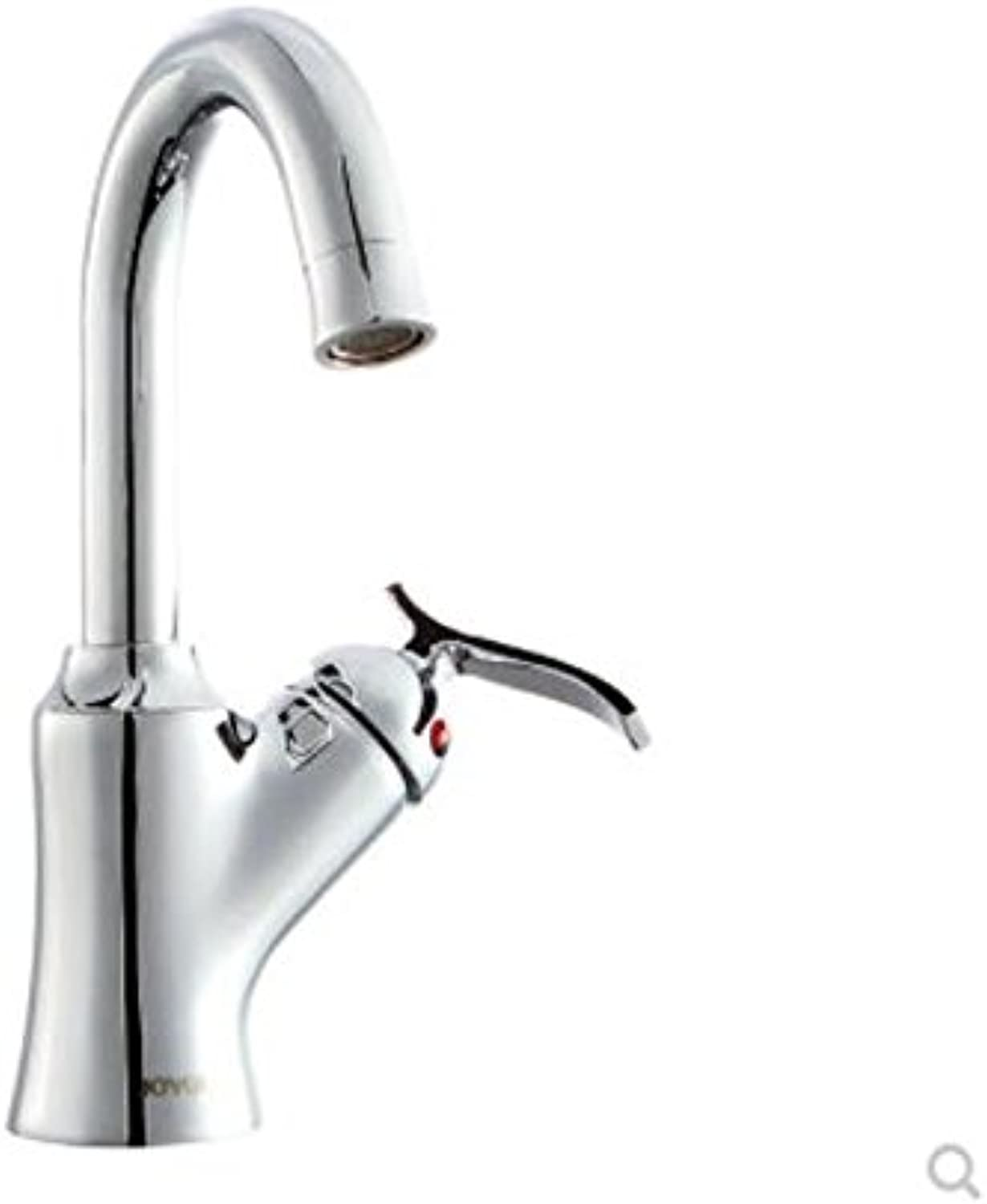 Decorry All Copper Single Hole Single Handle Shampoo Faucet Hot and Cold Water Tap Can redate Ceramic Bowl Faucet of Basin Head.