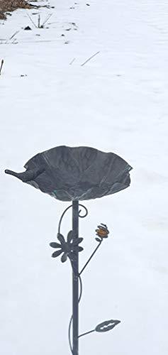 Emanhu Gartenstecker Vogeltränke 91cm Metall Vogelbad Vogelbecken Futterschale 414005