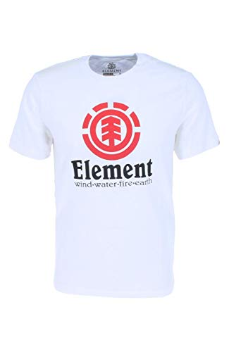 Element Vertical SS T-Shirts, Chemises et Polos Homme, Optic White, FR : 2XL (Taille Fabricant : XXL)