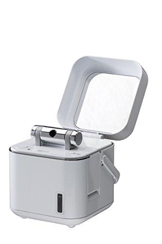ツインバード フェイススチーマー ふた付 鏡 イオン化スチーム ホワイト SH-2786W