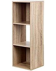 BAAB 彩色盒子 3層 收納盒 書架 木制 自然 多色可選 時尚 收納盒 小物件 書類 搬運 小物件 文具 辦公室 室內裝飾 雜貨 家具風格 收納架 組裝簡單 91x31x29.5cm