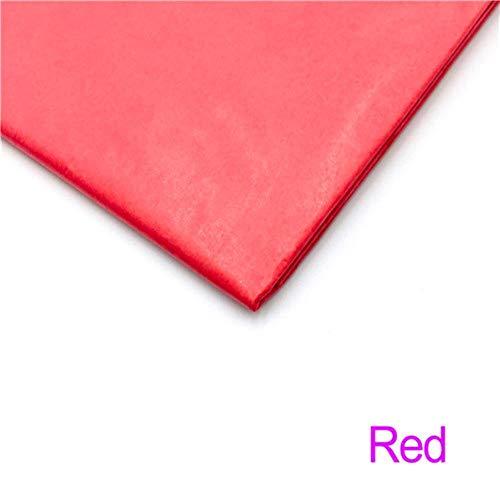 10 vellen 20x26 inch tissuepapier bloemkleding overhemd schoenen geschenkverpakkingen ambachtelijke papierrol wijn inpakpapier, rood