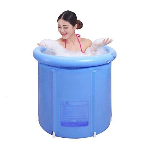 Bañera Plegable Barril de baño Bañera para Adultos Bañera Inflable, Cubo de plástico más Grueso Bañera (Tamaño: L) (Tamaño: L)