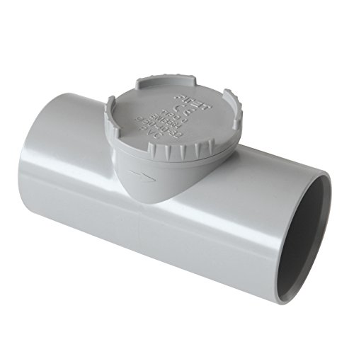 First plast nrc50g Válvula antirretorno de PVC ad pegar, Gris, Diámetro 50mm