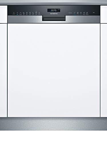 Siemens SN55ES57CE iQ500 Teilintegrierter Geschirrspüler / D / 85 kWh / 14 MGD / Smart Home kompatibel via Home Connect / varioSpeed Plus / Glas 40° Programm