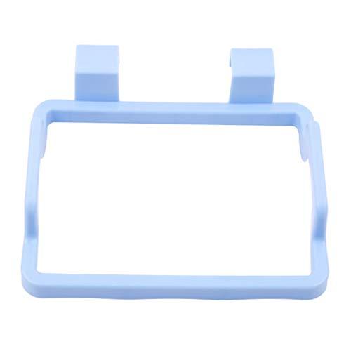 HYhy Küchenmüllbeutelhalter Handtuchhalter Kunststoff-Hängegestell Küchenschranktür-Rückengestell,Blau