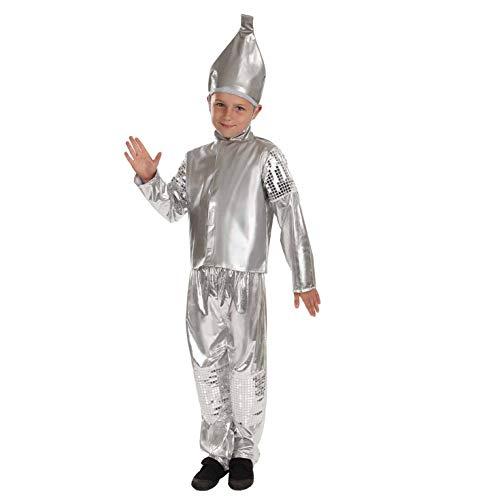 Fun Shack Plata Hombre De Hojalata Disfraz para Niños y Niñas - M