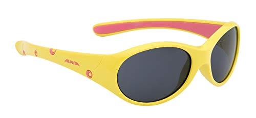 Alpina Mädchen Sonnenbrille Line FLEXXY Outdoorsport-brille, Yellow-Rose, One Size