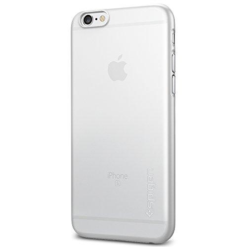 iPhone 6S Hülle, Spigen® [Air Skin] UltraSlim [Soft Clear] Dünn Federleicht FeinMatt Handyhülle / Lichtdurchlässig Semi-Transparent Maßgeschneiderte Form & Perfekter Sitz Hardcase / Passgenau Premium Schutzhülle für iPhone 6/6S Case, iPhone 6/6S Cover - Soft Clear (SGP11595)
