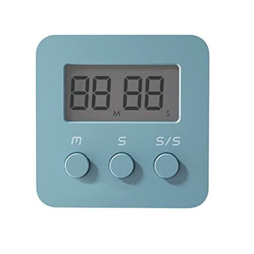 タイマー キッチンタイマー 見やすい大画面タイマー マグネット付き 簡単操作 置き掛け兼用 電池付属 防水蒸気 小型 4.3×4.3×1.5cm