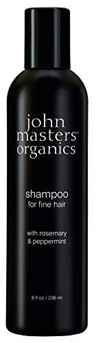 JOHN MASTERS ORGANICS Shampoing pour Cheveux Fins au Romarin/Menthe Poivrée