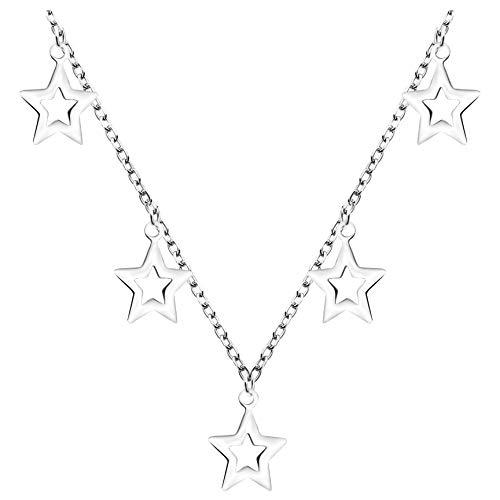 SOFIA MILANI - Collar para Mujeres en Plata de Ley 925 - Colgante de Estrella - 50281