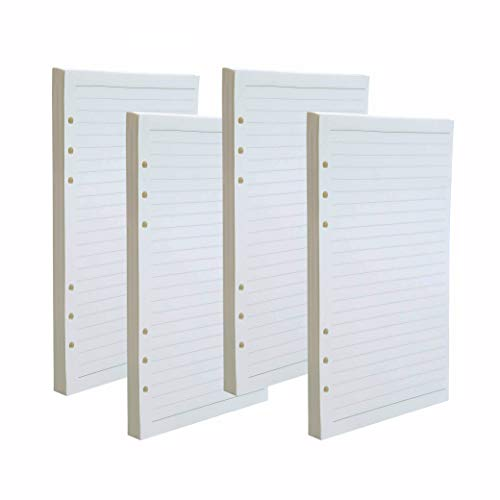 iwobi Papel de Recambio A5 con 6 Anillas, Inserciones de Cuadernos A5 Inserciones de Recambio para Cuadernos
