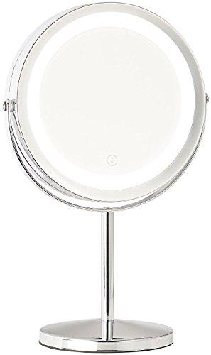 Sichler Beauty Vergrösserungsspiegel: LED-Kosmetikspiegel, 2 Spiegelflächen, Akku, 3X / 7X Vergrößerung (Rasierspiegel)