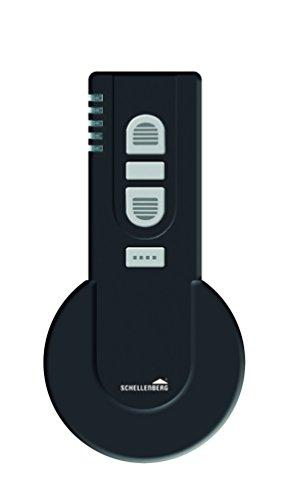Schellenberg Smart Home draadloze handzender | afstandsbediening voor rolluiken, licht & stopcontacten | Smart Home apparaten | Ready for Smart Friends 5-kanaals/25 producten te leren/zwart zwart