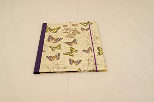 A 4 Sammelmappe mit Einschlaglaschen, Pflanze mit Schmetterlingen, Gummizugmappe, Eckspanner, Dokumentenmappe