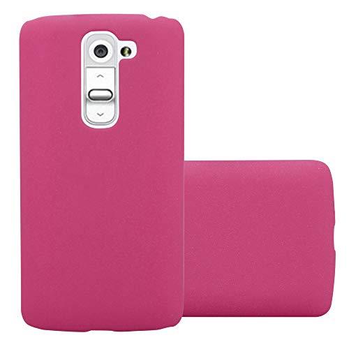 Cadorabo Hülle für LG G2 Mini - Hülle in Frosty PINK – Hardcase Handyhülle im matten Frosty Design - Schutzhülle Bumper Back Hülle Cover