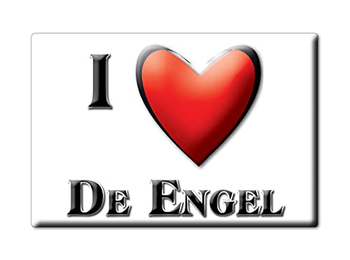 Enjoymagnets DE Engel (H) Souvenir IMANES DE Nevera Holanda ZUID Holland IMAN Fridge Magnet Corazon I Love