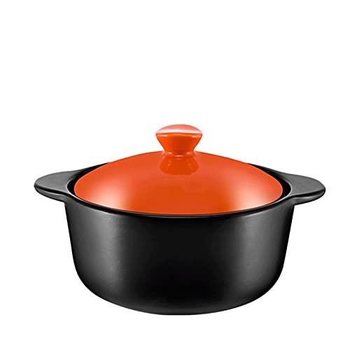 Olla de Sopa de Cazuela de ollas de Cocina Placas de cazuela, con Tapa de cazuela, acumulación de Calor, Ahorro de energía y Durabilidad para la Estufa de Gas
