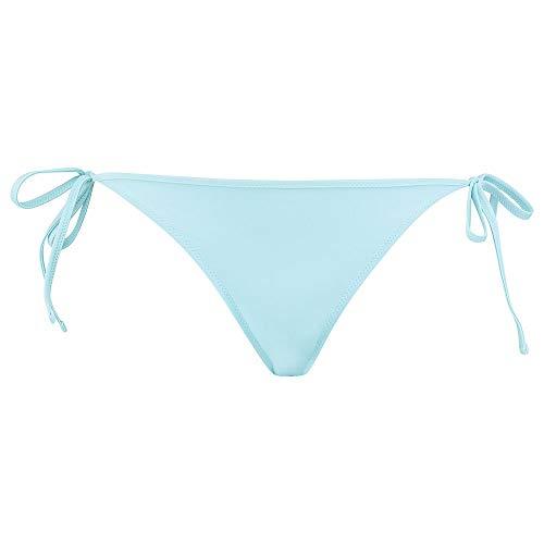 PUMA Womens Swim Women's Side-Tie Bikini Bottoms, Angel Blue, S
