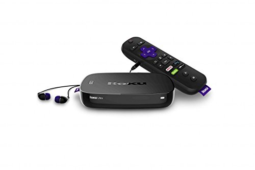 Roku Ultra | 4K/HDR/HD streaming player with Enhanced remote (voice, remote finder, headphone jack, TV power and volume), Ethernet, MicroSD and USB (2017) (Renewed)