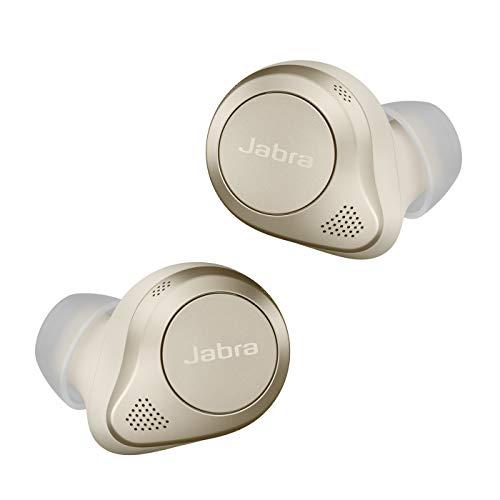 Jabra Elite 85t - Auriculares Inalámbricos True Wireless con cancelación activa de ruido avanzada, batería de larga duración y potentes altavoces - Estuche de carga inalámbrica - Oro y Beige
