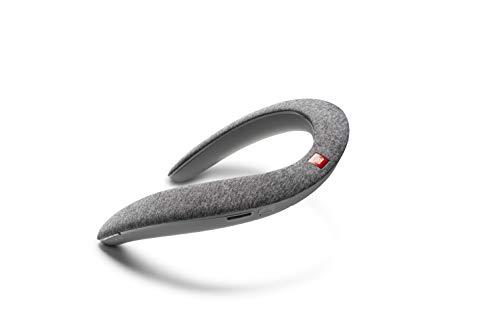 JBL Soundgear BTA Musikbox - Tragbare Bluetooth Box in ergonomischem Design für den Nacken - 4 integrierte Lautsprecher für klangvollen Stereo Sound Grau