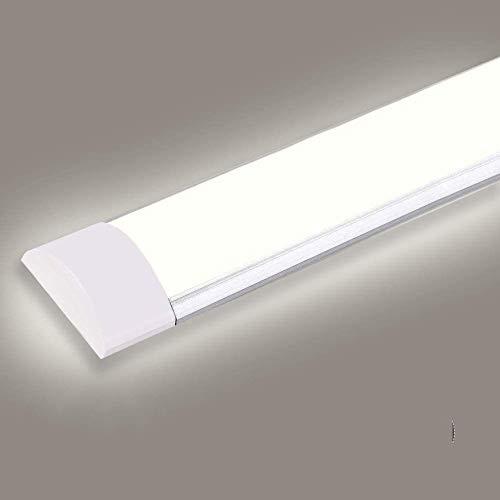 Luce a stecca LED, Luce Neutra 120CM 40W 4800LM Bianco neutro Ultraslim Collegabili Plafoniera, Plafoniere IP20 Tubo, LED Ultra Sottile Plafoniere per Bagno Showroom Ufficio Officina