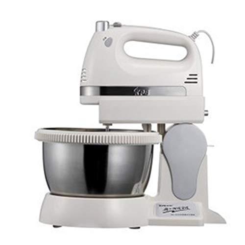 GGOODD Máquina de masa pequeña, mezcladora de pie multifunción, batidora de mesa de 400 W, amasadora de 5 velocidades para cocina, hornear, mini crema de huevo y alimentos