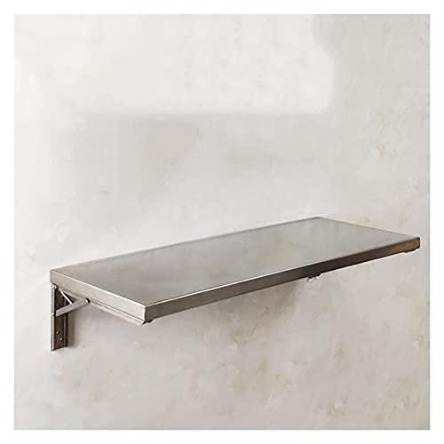 GHHZZQ Tavolo Pieghevole A Muro Acciaio Inossidabile 304 Scrivania Galleggiante Banco di Lavoro per Lavanderia Cucina, Facile da Installare E Pulire (Color : Silver, Size : 15.7x11.8in/40x30cm)